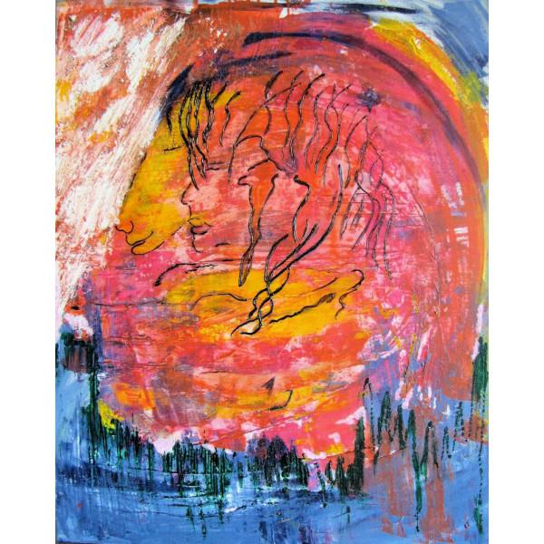 Peinture Acrylique Compagnon De Voyage Les Jardins A Fleur De Peau